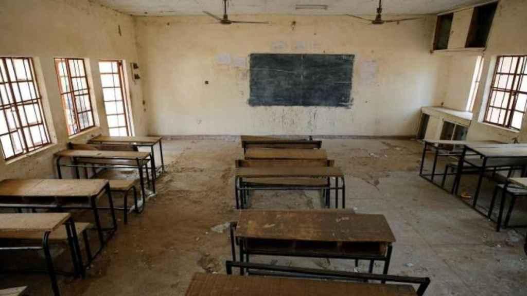 Interior de una escuela en Nigeria. Efe