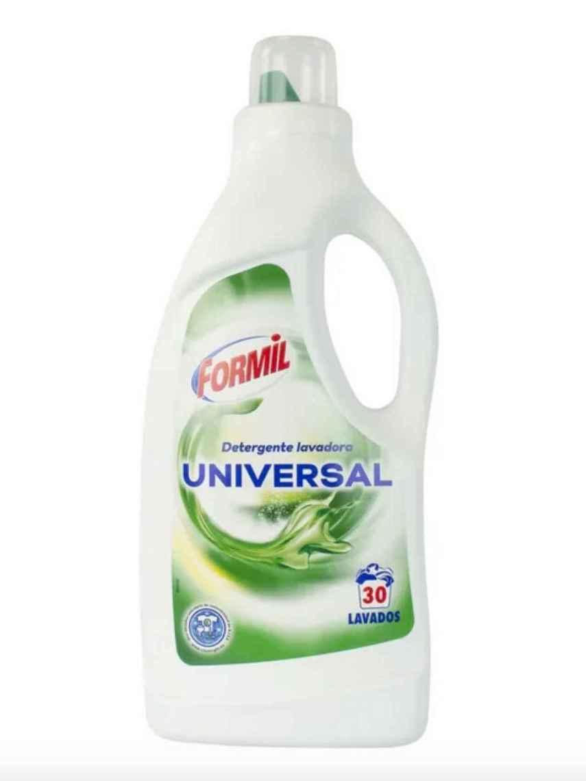 Detergente líquido universal 30 lavados de Formil, la marca blanca de Lidl.