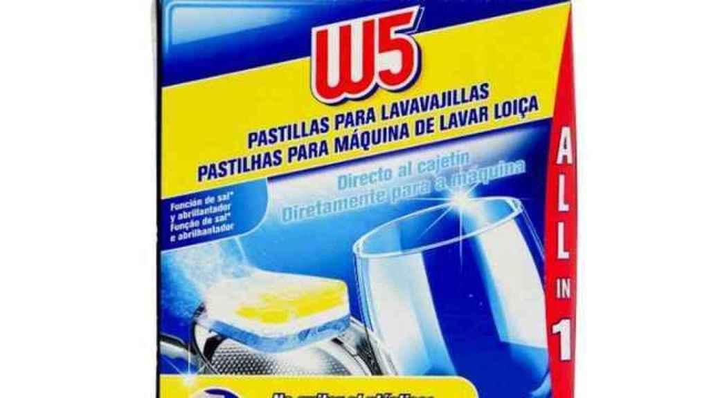 Detergente para lavavajillas de W5, la marca blanca de Lidl.