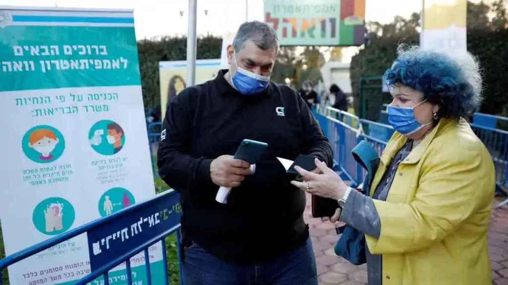 Control de contagios de coronavirus en Israel.