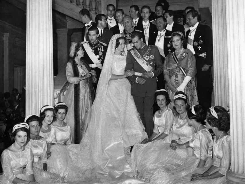 El rey Juan Carlos y la reina Sofía, el día de su boda.