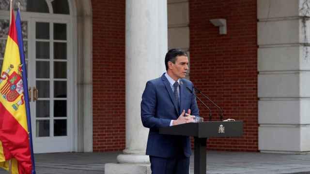 El presidente del Gobierno, Pedro Sánchez, este viernes en La Moncloa.