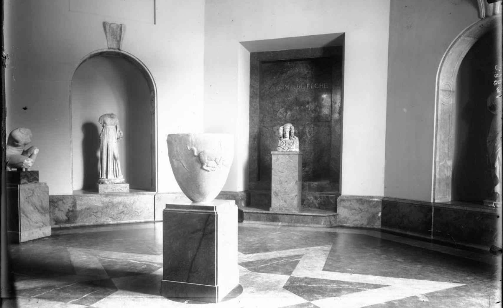 La Dama de Elche, expuesta en el Museo del Prado.