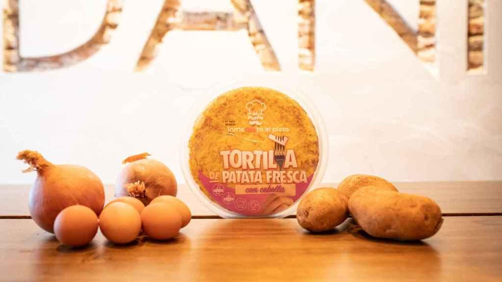 La tortilla de patata con cebolla de Dia Al Punto, la gama de precocinados del supermercado.