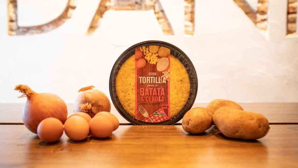 La tortilla de patata de Hacendado, la marca blanca de Mercadona.