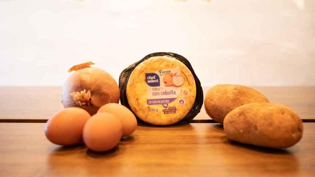 La tortilla de patata de Chef Select, la gama de platos precocinados de Lidl.