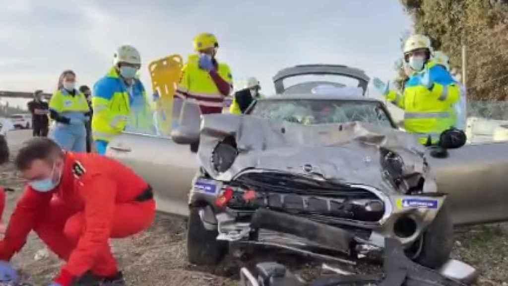 Los servicios de emergencia intervenien en el Jarama