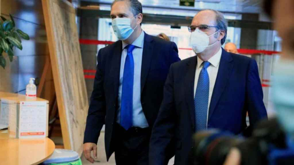 Gabilondo y José Cepeda, en la Asamblea de Madrid.