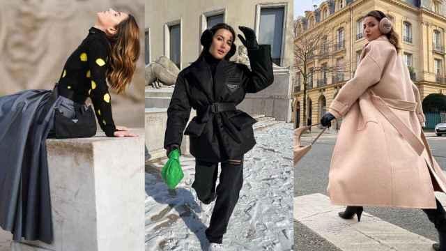 Alexandra Pereira conquista las calles parisinas con sus últimos 'looks'.