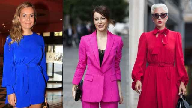 De izquierda a derecha, María José Campanario, Andrea Levy y Lady Gaga, que padecen fibromialgia.