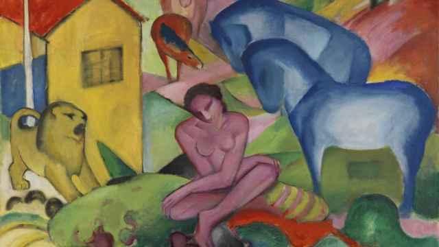El sueño, de Franz Marc.