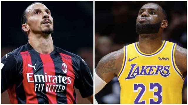 Ibrahimovic y LeBron James, en un collage