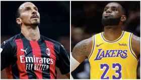 Ibrahimovic y LeBron James, en un collage
