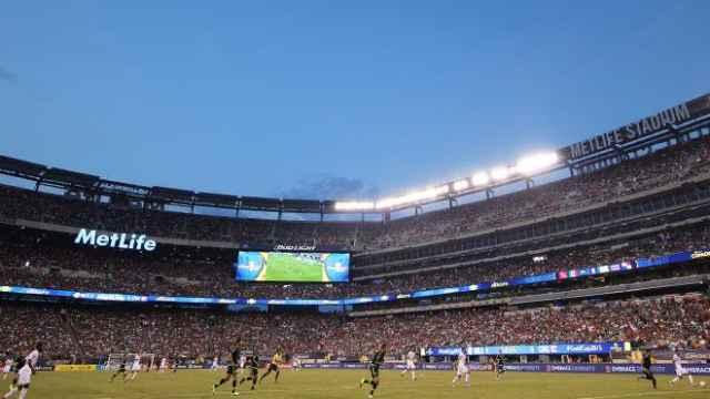 El MetLife Stadium albergando un amistoso del Real Madrid