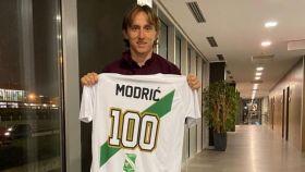 Luka Modric con la camiseta del Immacolata Alzano