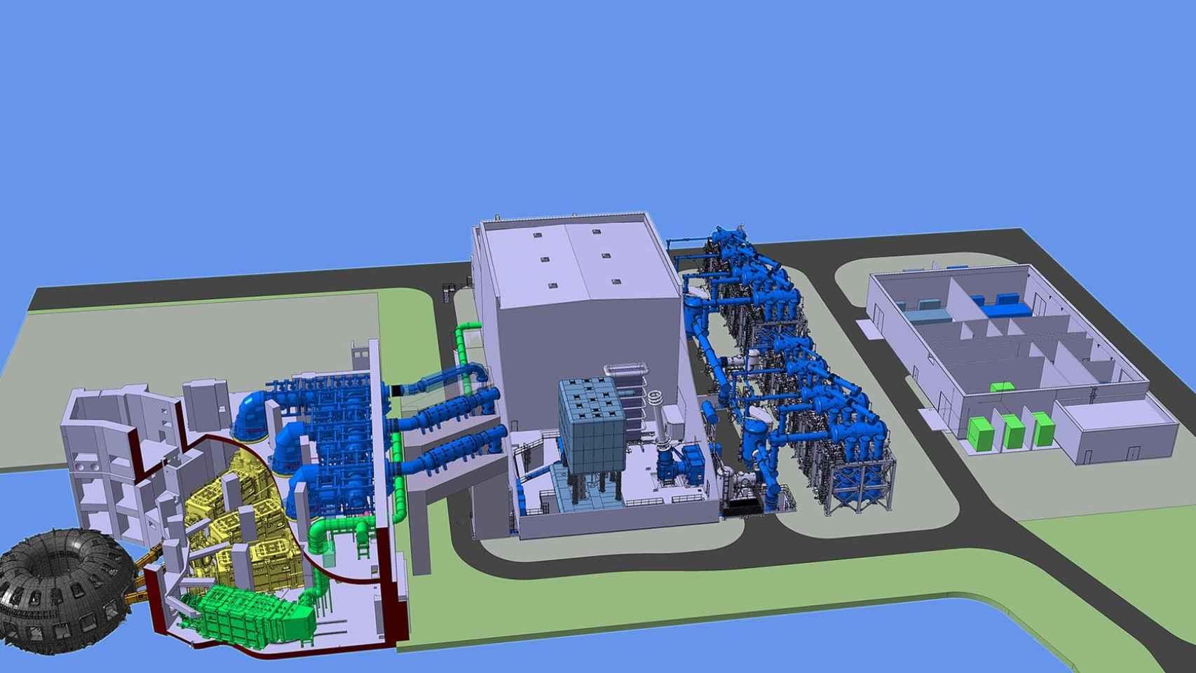 Recreación virtual del reactor experimental de fusión ITER