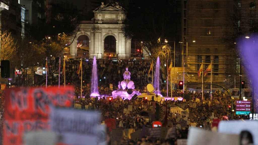 Imagen de la Plaza Cibeles, en la manifestación del año pasado.