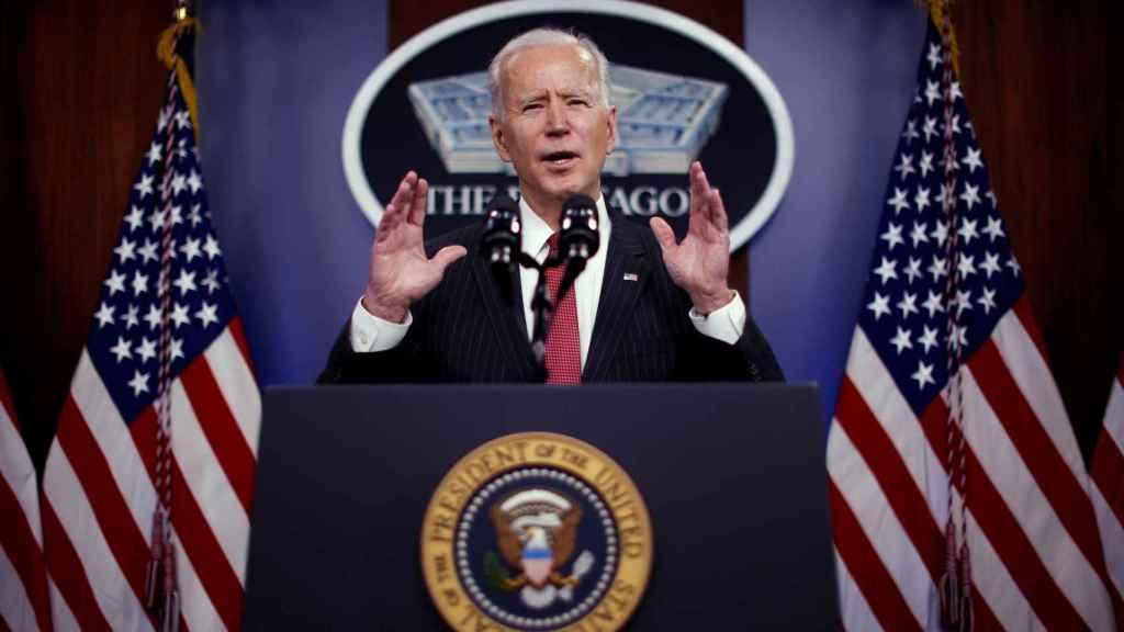 El presidente de Estados Unidos, Joe Biden, en el Pentágono.