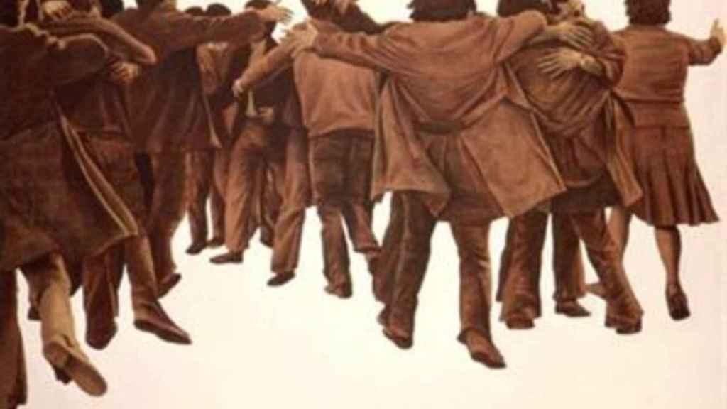 El abrazo, de Juan Genovés.