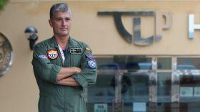 José Carlos Presa, comandante de la escuela internacional de pilotos de caza.