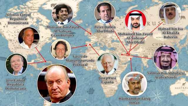 Juan Carlos I ha acumulado amigos por distintas partes del planeta.