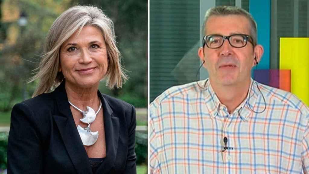 La periodista Julia Otero y Máximo Pradera en un fotomontaje.