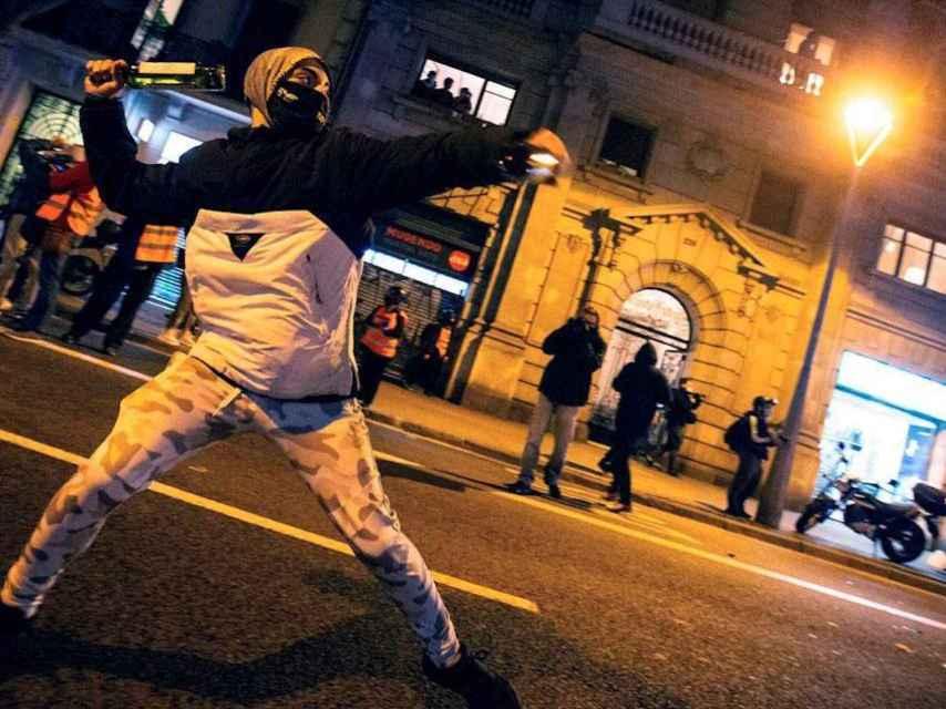 Violencia callejera en Barcelona