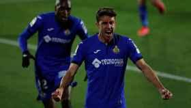 Mata celebra su gol ante el Valencia