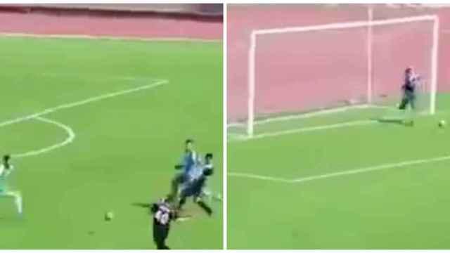 Argelia descubre a su nuevo portero promesa: un recogepelotas salta al campo y evita un gol