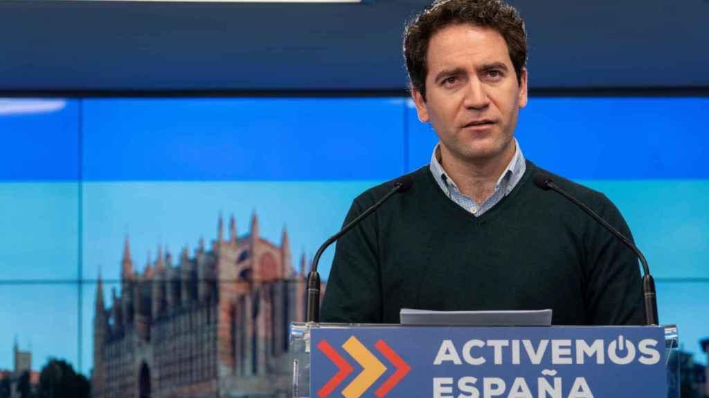 El secretario general del Partido Popular, Teodoro García Egea, este sábado-