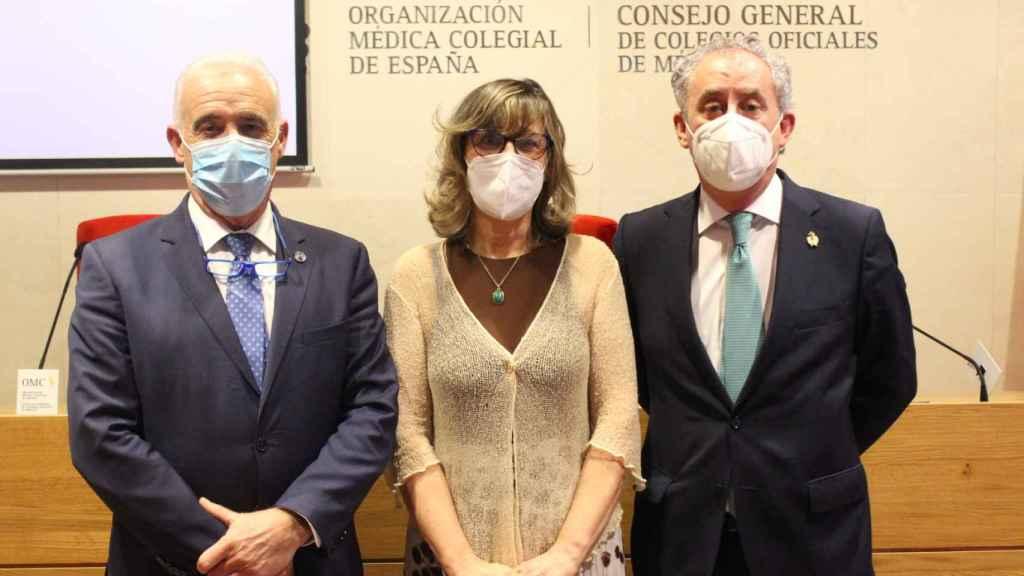 Enrique Guilabert, Rosa Arroyo Castillo y Tomás Cobo.