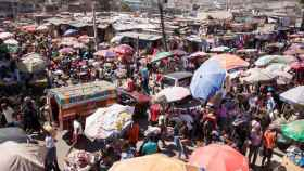 El mercado de Pétion Ville, en Puerto Príncipe (Haití) a principios de febrero.