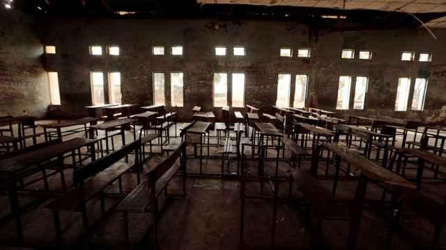 Un colegio vacío en la ciudad de Kagara, en Nigeria.