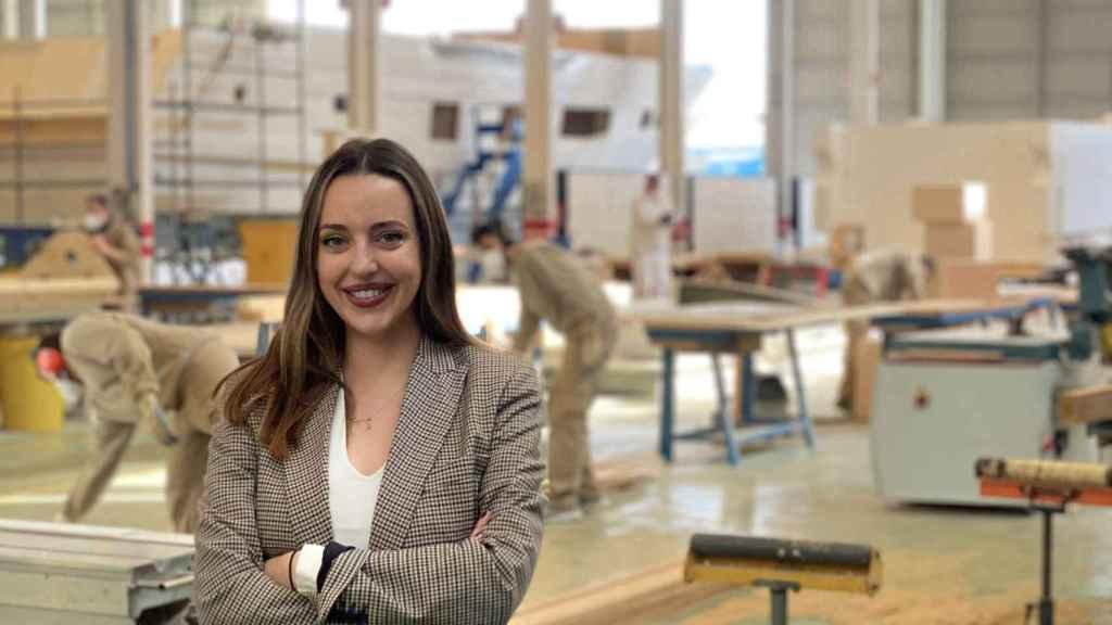 Ione Astondoa, en los astilleros.