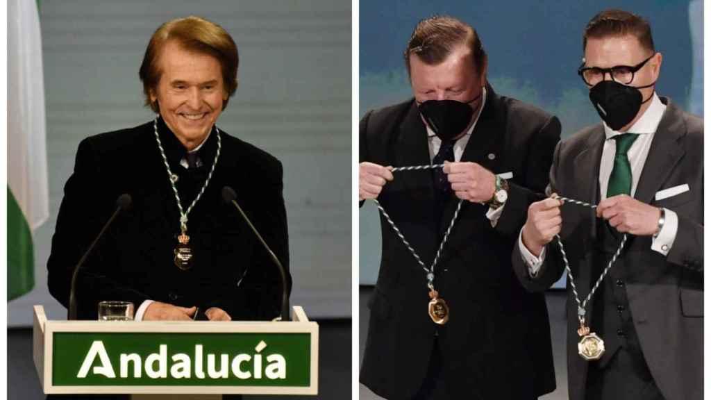 Raphael y Los Morancos reciben las Medallas de Andalucía.