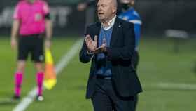 Pepe Mel, durante un partido con la UD Las Palmas