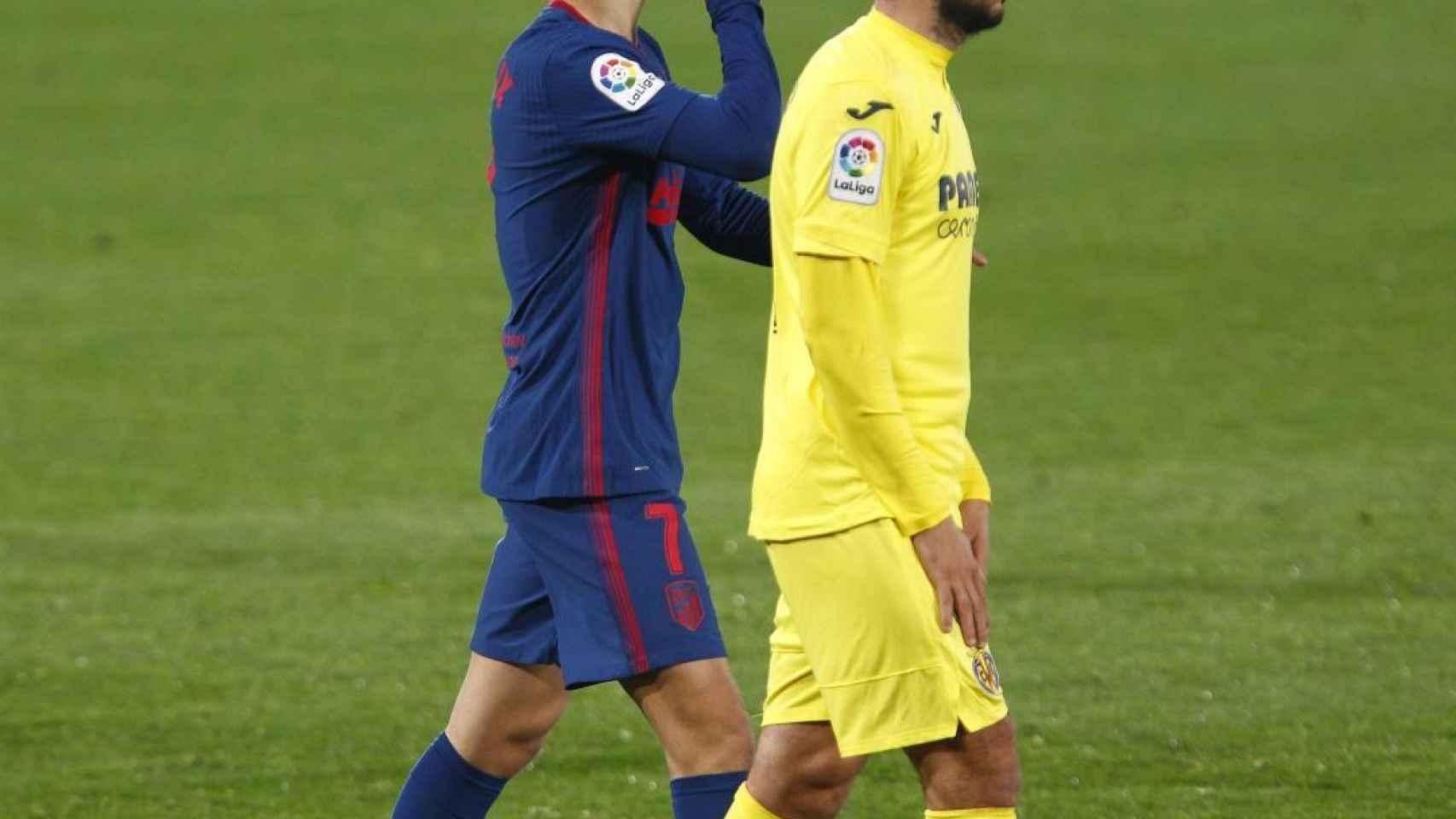 Joao Félix, mandando callar tras hacer el 0-2 para el Atlético de Madrid