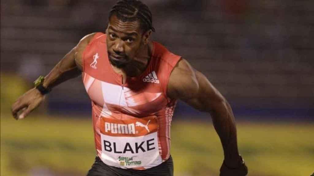 Yohan Blake en una prueba