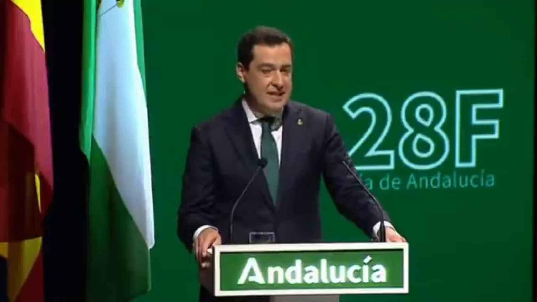 Las lágrimas de Juanma Moreno en el día de Andalucía más duro