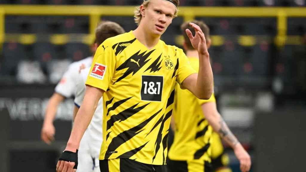 Erling Haaland, con la camiseta del Borussia Dortmund