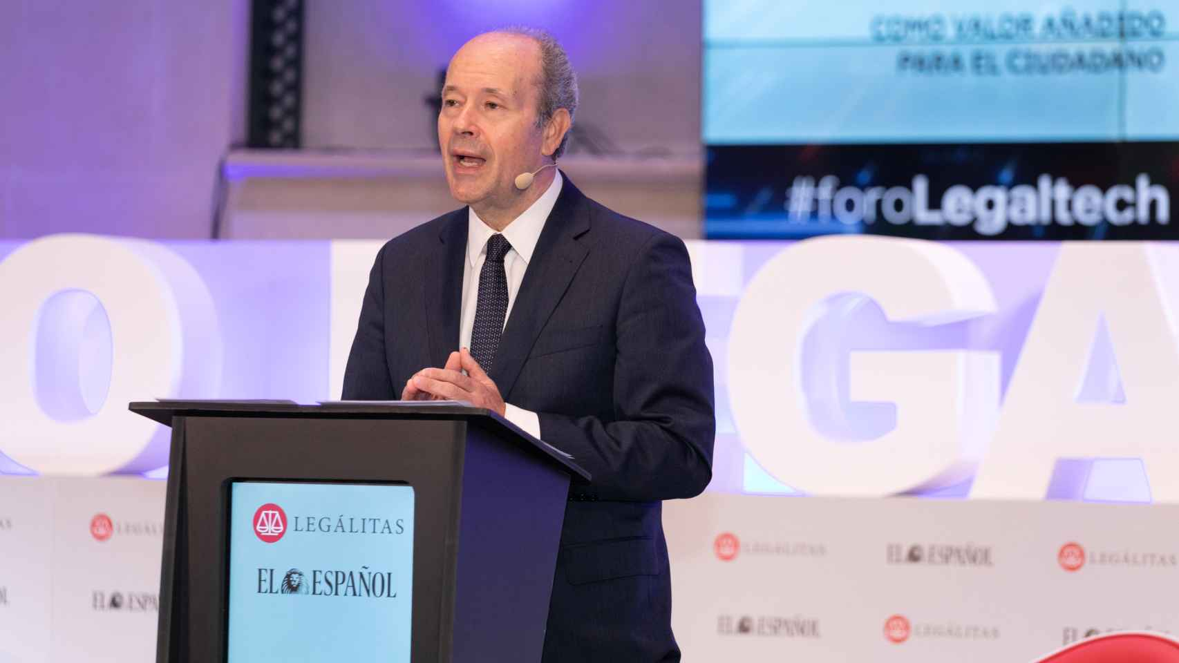 El ministro de Justicia, Juan Carlos Campo, en el Foro Legaltech de Invertia - EL ESPAÑOL