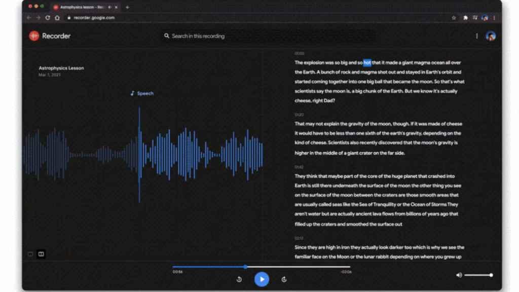 Transcripción de grabación