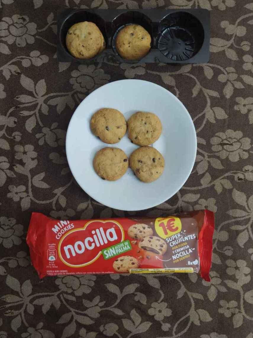El formato de Mini Cookies de las galletas rellenas con Nocilla tradicional.