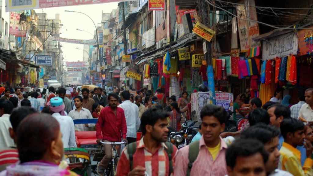 población en la India