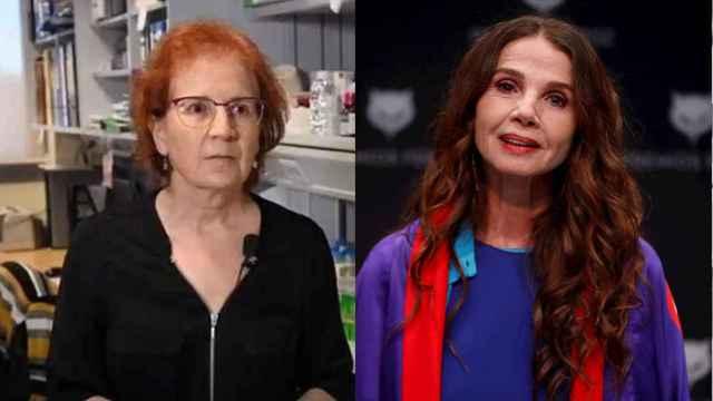La viróloga Margarita del Val y la actriz Victoria Abril.