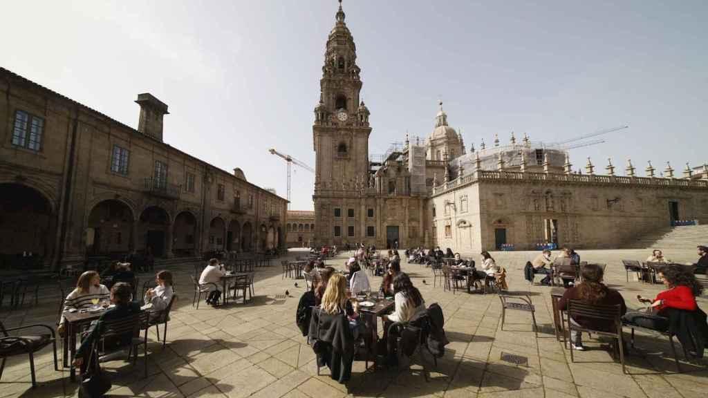 Ambiente primaveral en  A Quintana,  en Santiago de Compostela. EFE/Lavandeira jr