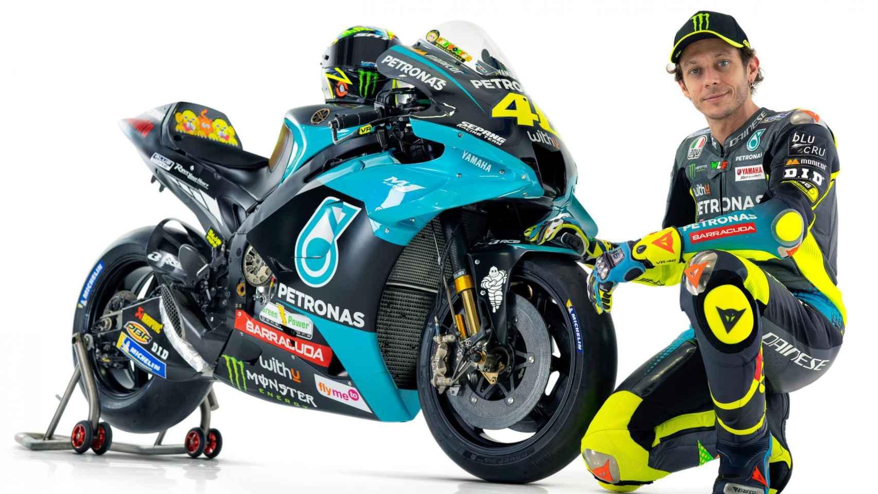 Valentino Rossi luce sus nuevos colores: así son las M1 del Petronas Yamaha SRT