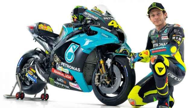 Valentino Rossi cambia de colores con 42 años: así es la M1 del Petronas Yamaha SRT