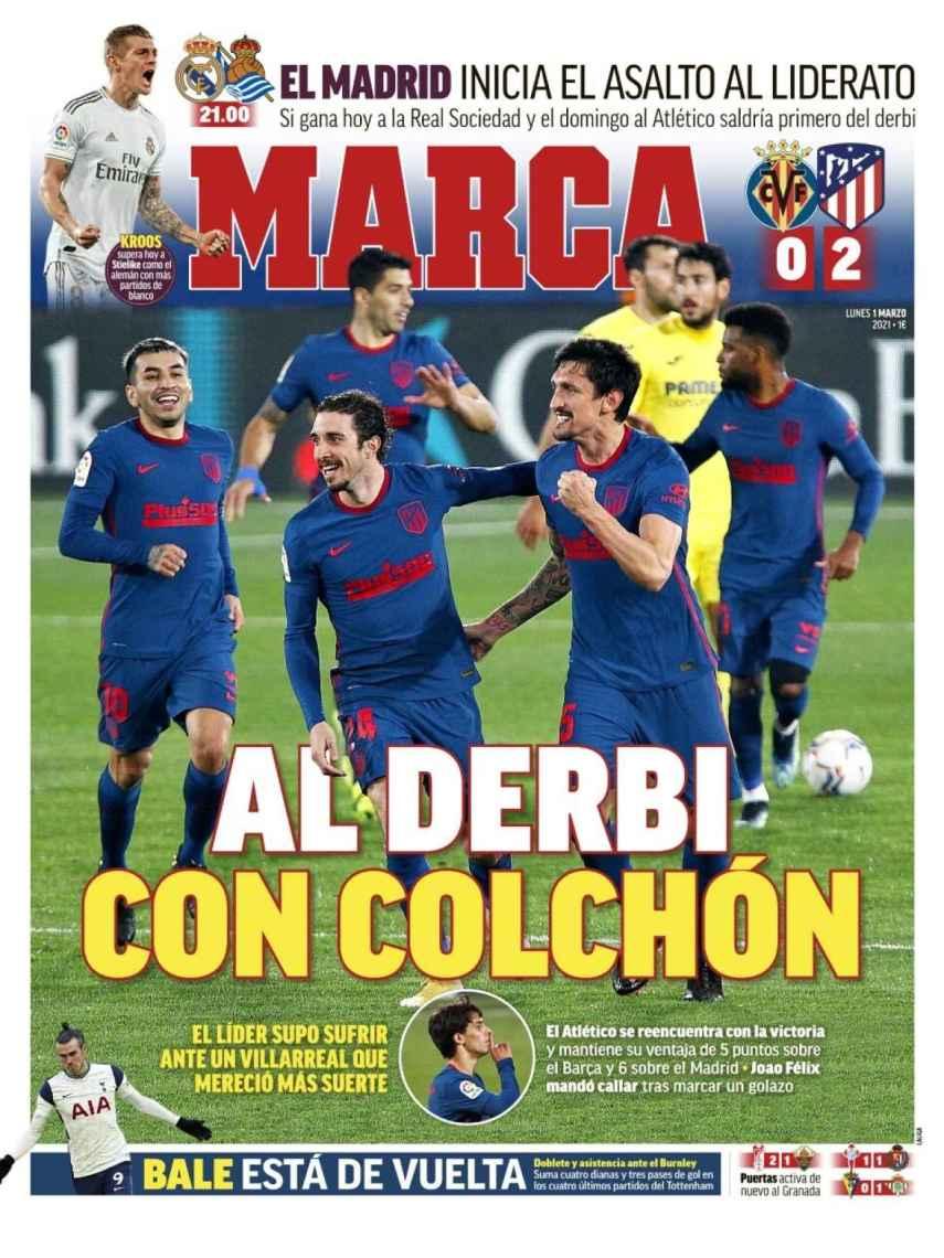 La portada del diario MARCA (01/03/2021)