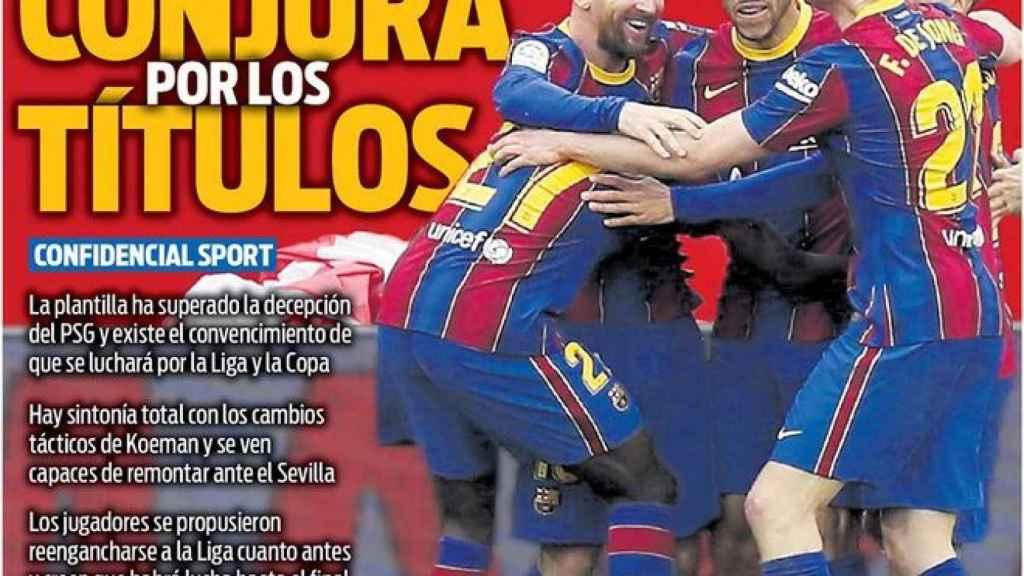 La portada del diario SPORT (01/03/2021)